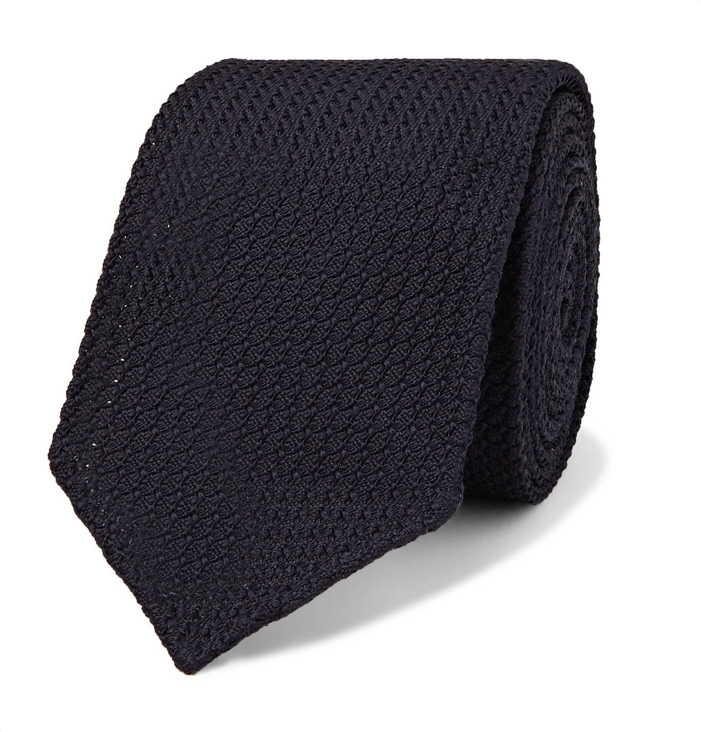 Photo: Lardini - 7cm Knitted Silk Tie - Blue