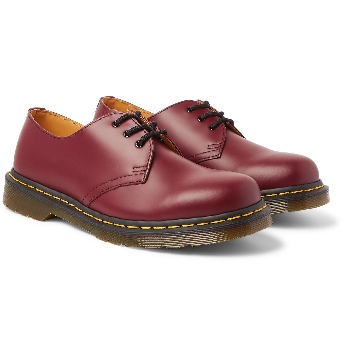 Photo: Dr. Martens - 1461 Leather Derby Shoes - Burgundy