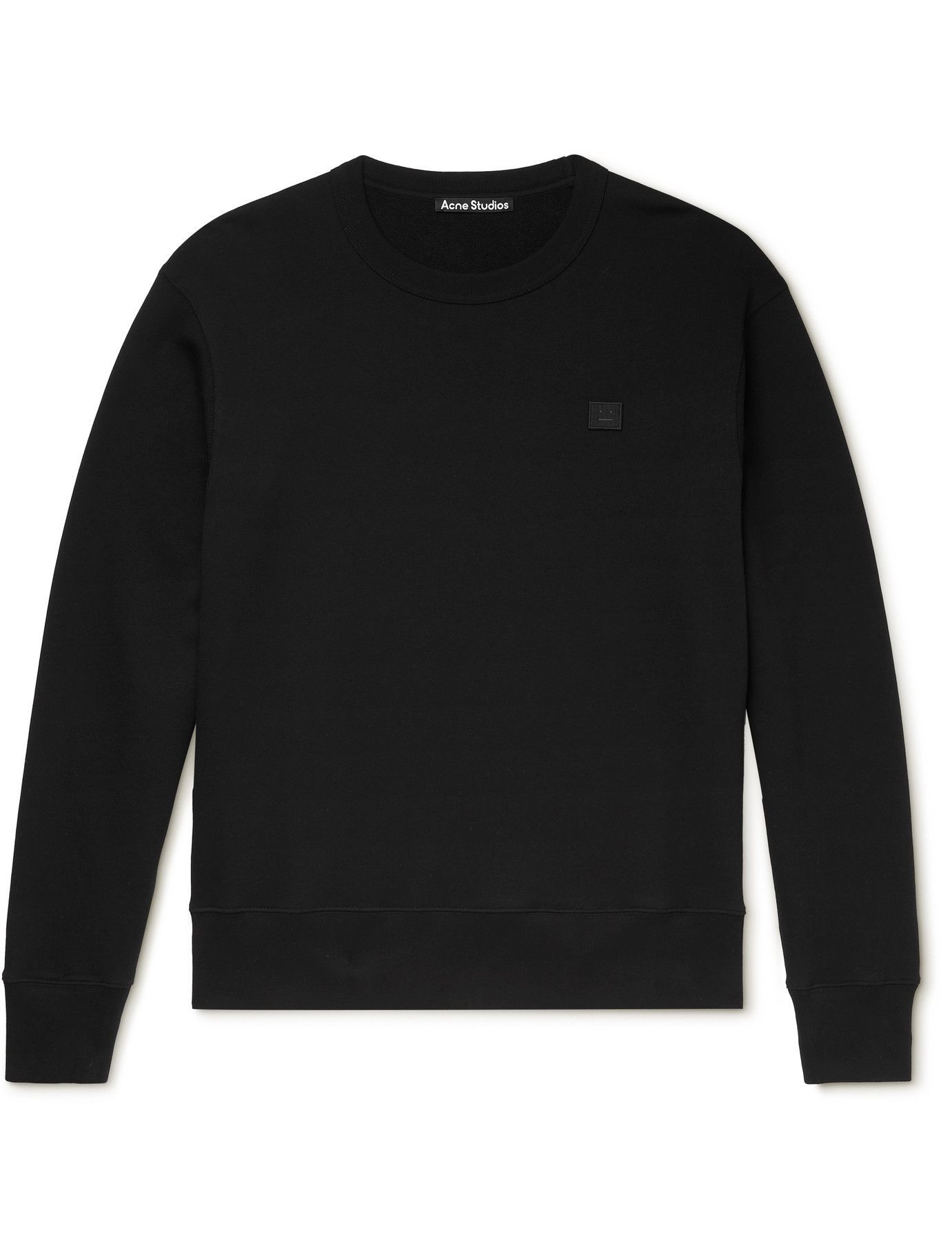 Photo: ACNE STUDIOS - Logo-Appliquéd Organic Cotton-Jersey Sweatshirt - Black