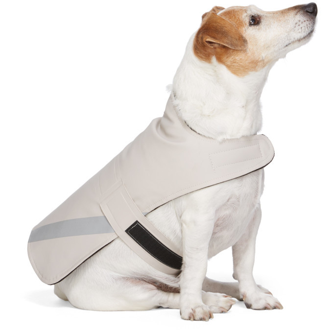 Photo: Stutterheim SSENSE Exclusive Beige PVC Lightweight Dog Raincoat