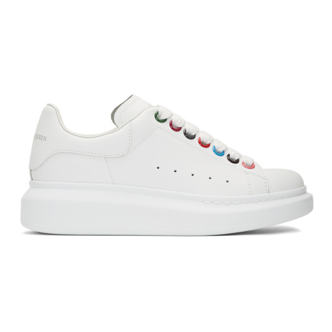 Photo: Alexander McQueen White Rainbow Hardware Oversized Sneakers