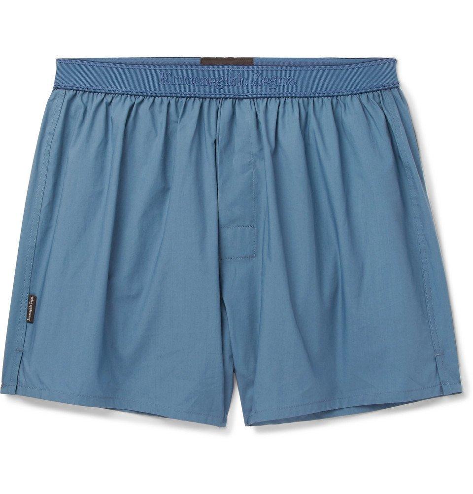Photo: Ermenegildo Zegna - Cotton Boxer Shorts - Blue