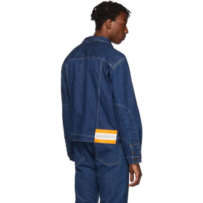 Calvin Klein Jeans Est. 1978 Blue Denim Logo Jacket