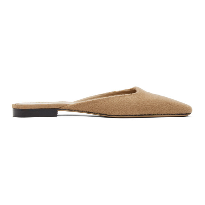 Photo: Toteme Tan Cashmere Slippers