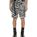 Sacai Zebra Print Shorts White×Black