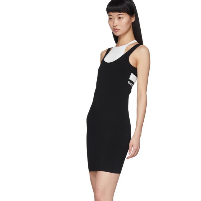 alexanderwang.t Black and White Bi-Layer Sleeveless Dress