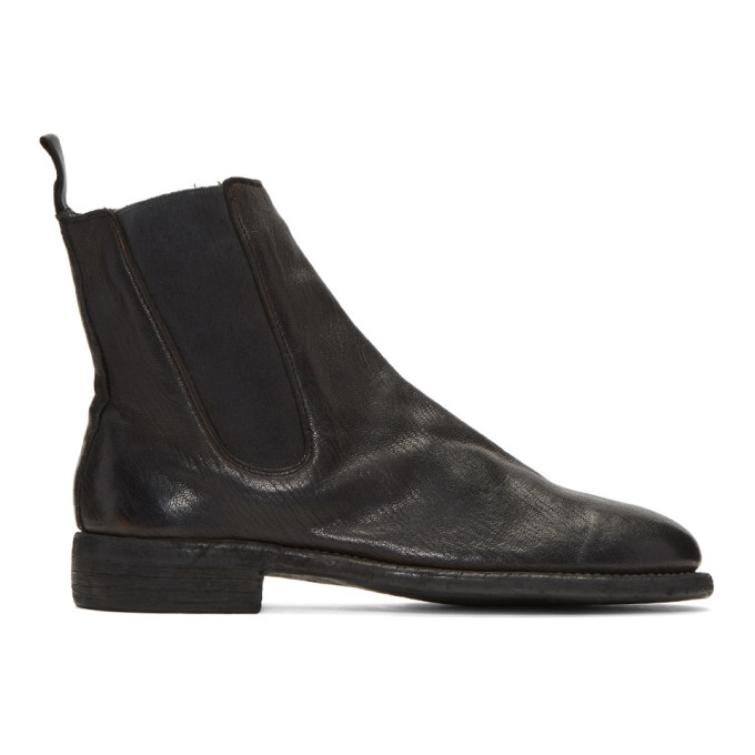 Photo: Guidi Black Leather Chelsea Boots