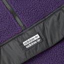adidas Originals - Vocal Shell-Panelled Fleece Half-Zip Sweatshirt - Purple
