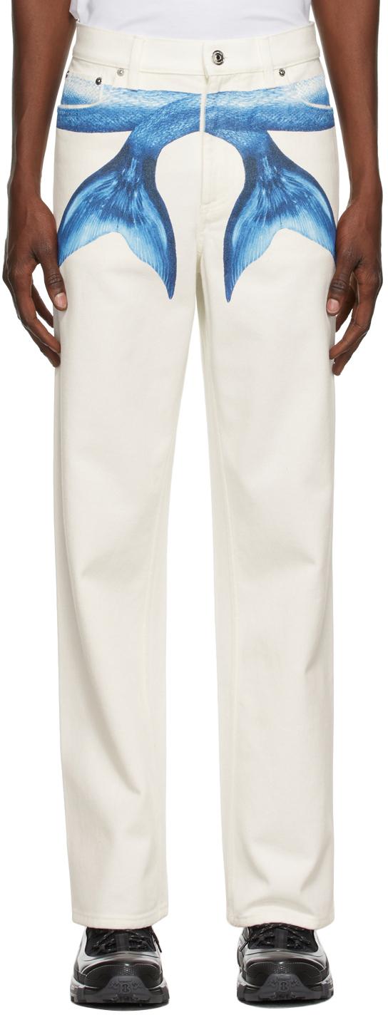 Photo: Burberry White Mermaid Tail Jeans