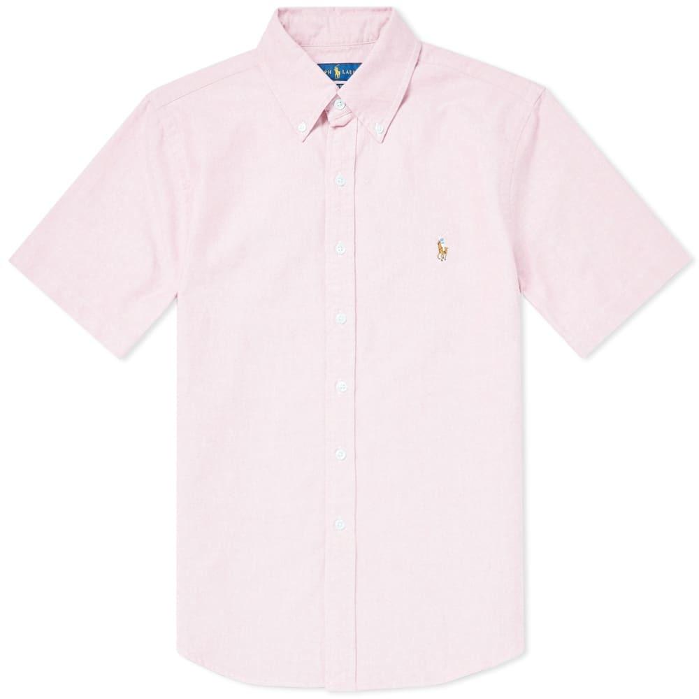 Photo: Polo Ralph Lauren Short Sleeve Slim Fit Button Down Oxford Shirt