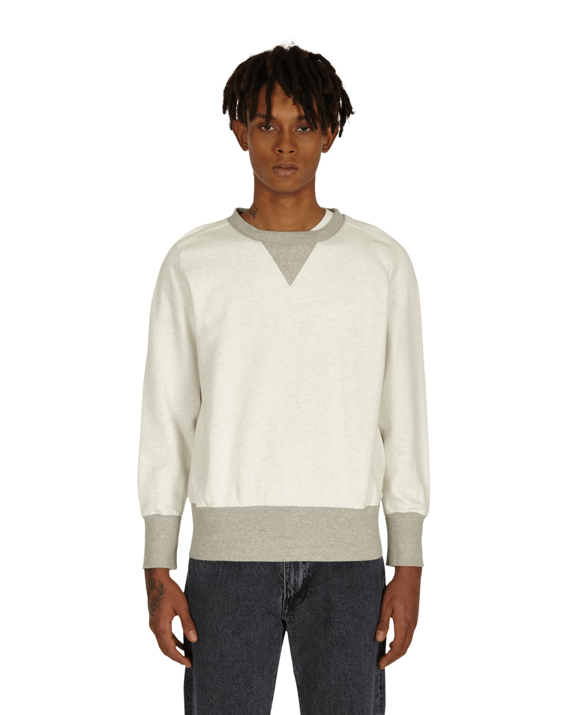 Photo: Levi's Vintage Bay Meadows Crewneck Sweatshirt White Grey