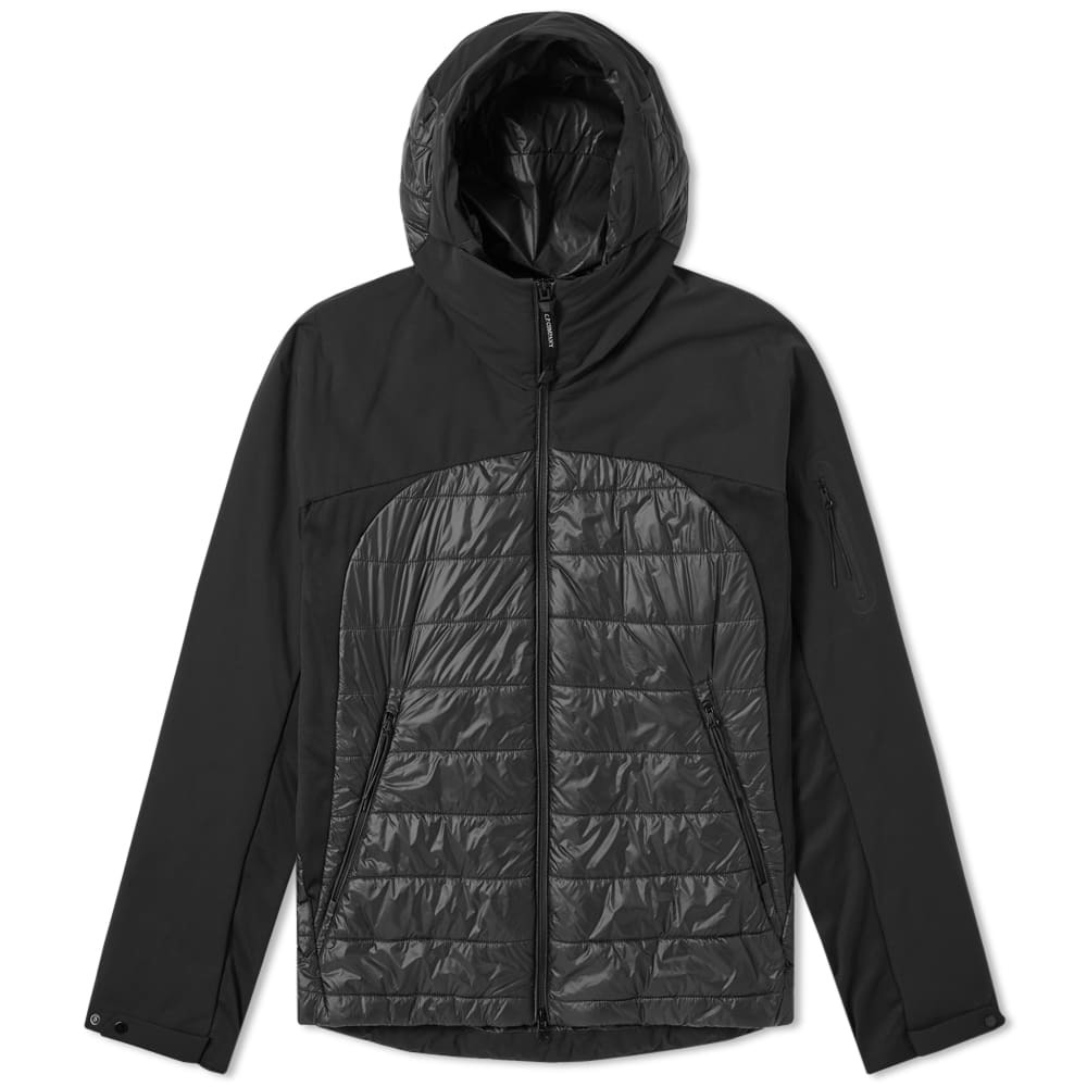 C.P. Company Protek Down Hooded Lens Jacket Black