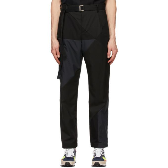 Sacai Black Hank Willis Thomas Edition Solid Mix Cargo Pants
