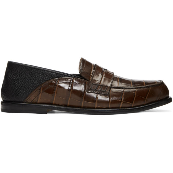 Photo: Loewe Brown Croc Convertible Loafers