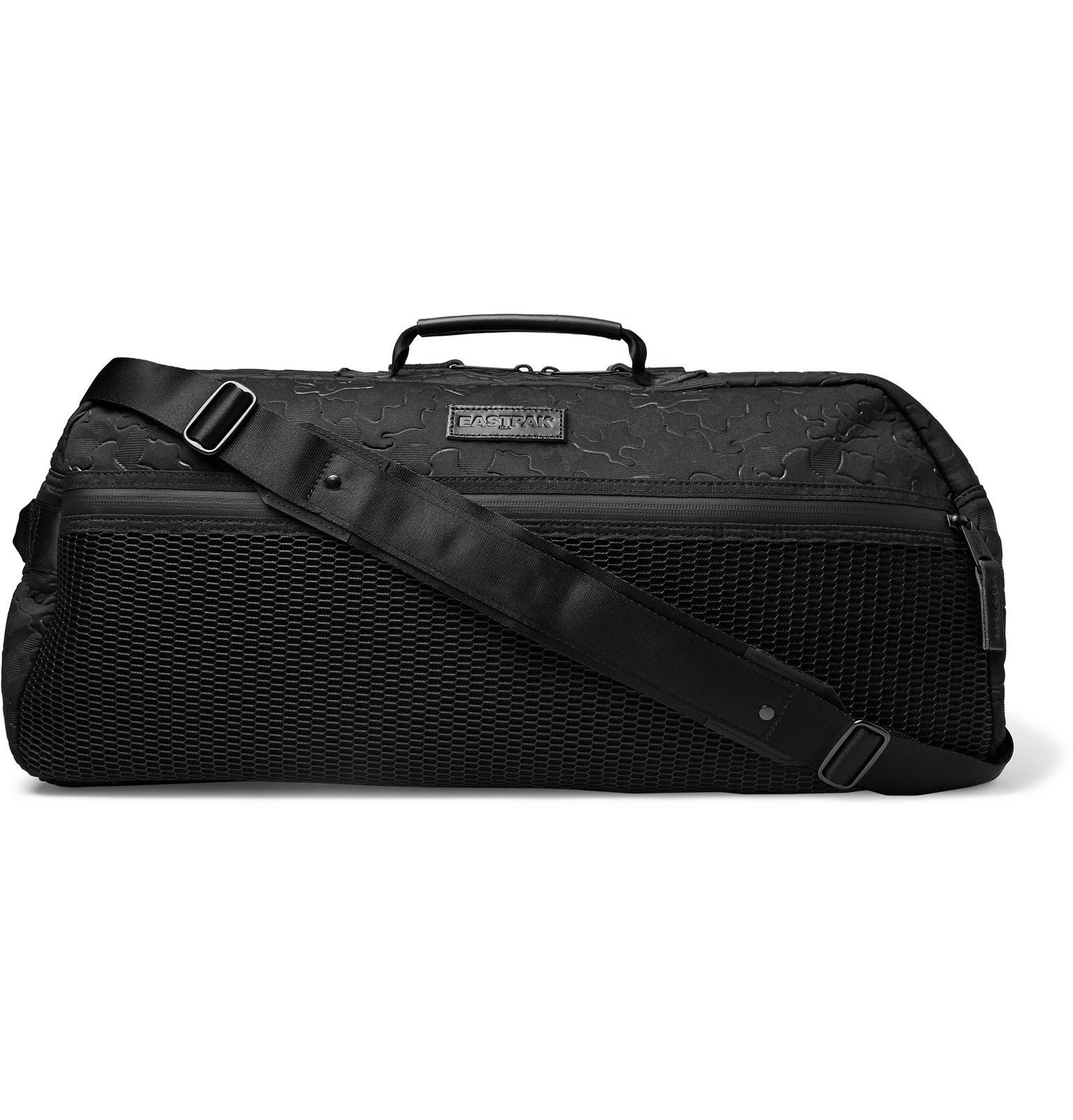 Photo: Eastpak - Stand Etched Embossed Canvas and Mesh Duffle Bag - Black