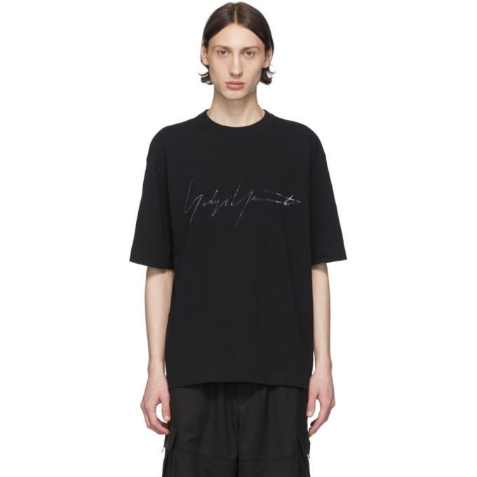 Photo: Y-3 Black Distressed Signature T-Shirt
