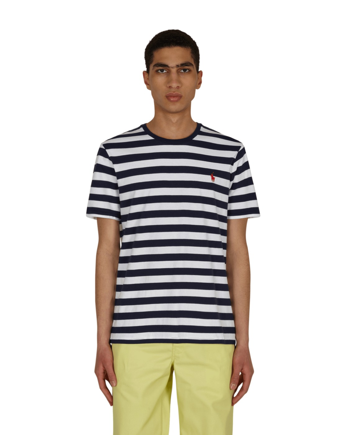 Photo: Polo Ralph Lauren Classic Striped T Shirt White/French Navy
