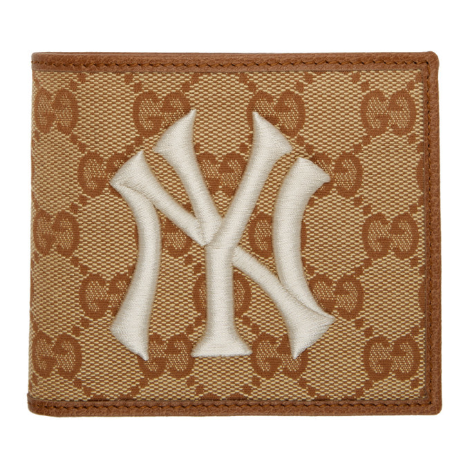 Photo: Gucci Beige and Brown NY Yankees Edition GG Patch Wallet