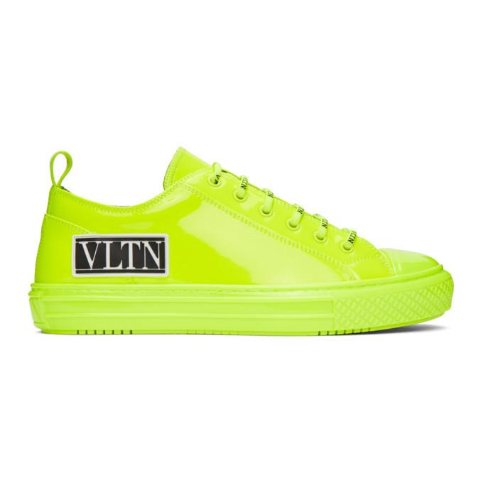 Photo: Valentino Green Valentino Garavani Patent VLTN Giggies Low-Top Sneakers