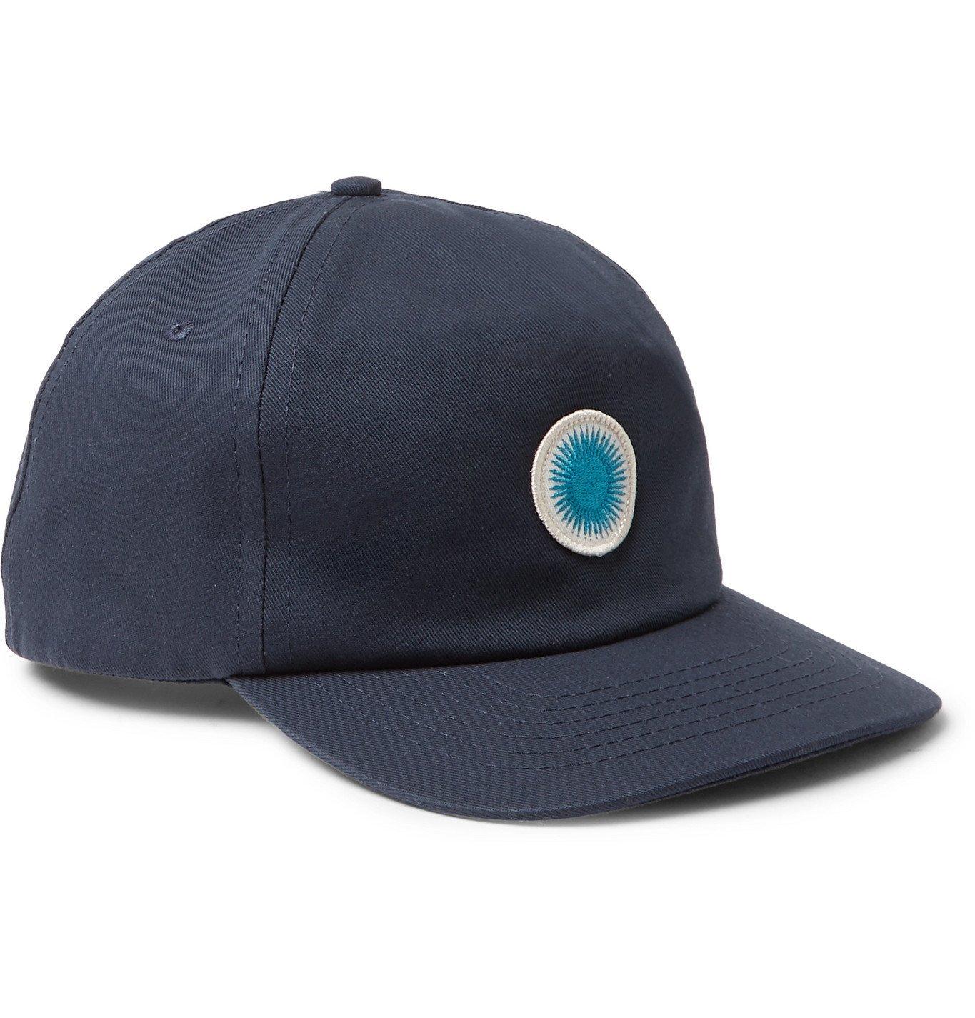 Photo: Mollusk - Appliquéd Cotton-Twill Baseball Cap - Blue