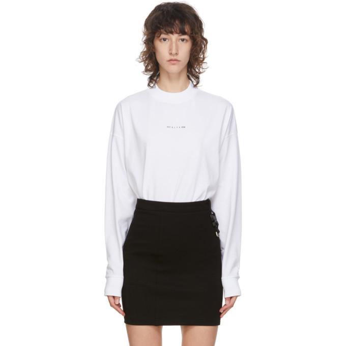 Photo: 1017 ALYX 9SM White Logo Long Sleeve T-Shirt