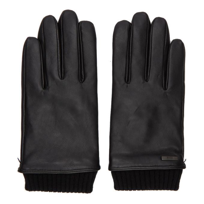 Photo: Boss Black Leather Hewen-TT Gloves