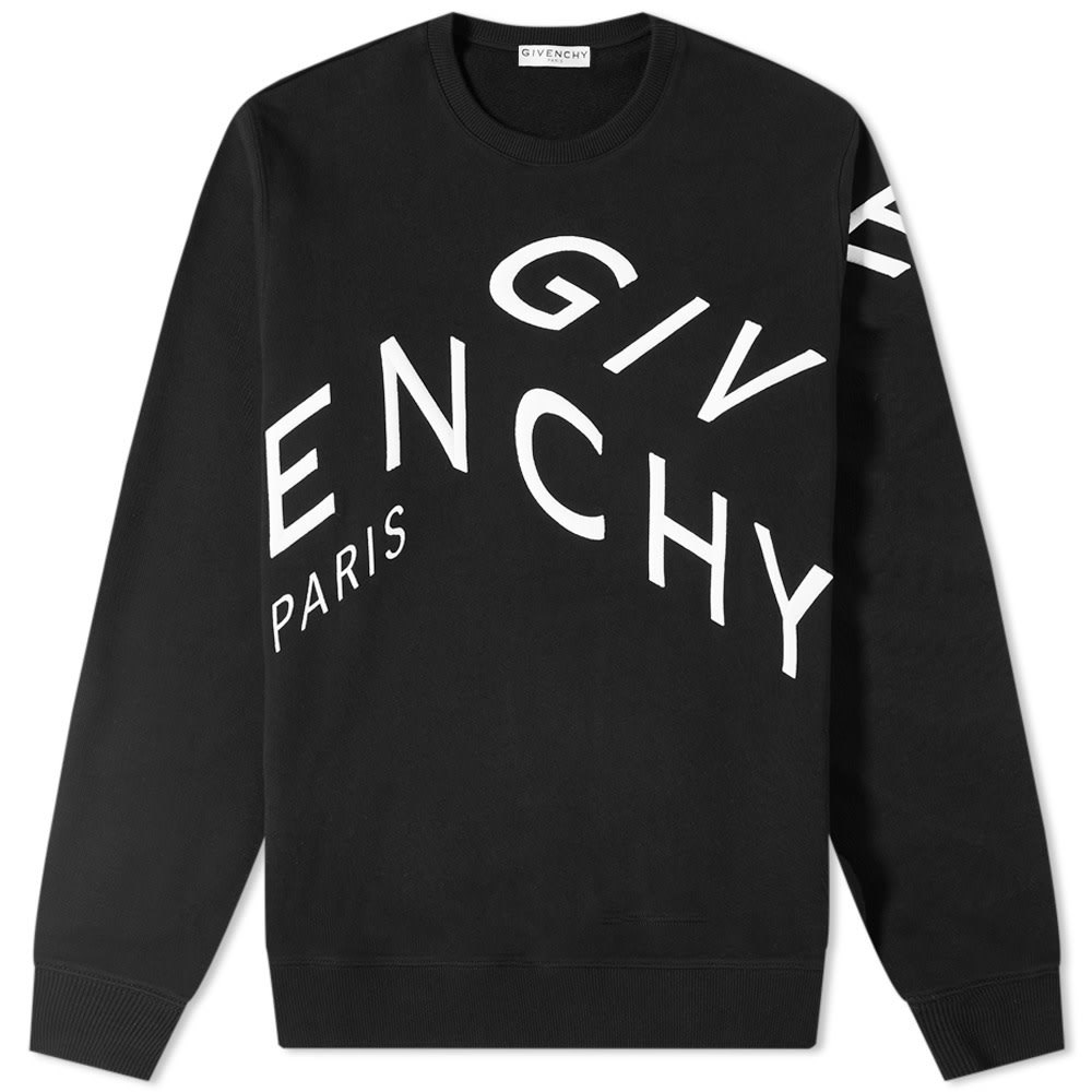 Photo: Givenchy Embroidered Refracted Logo Crew Sweat