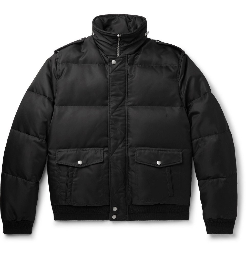 Photo: SAINT LAURENT - Quilted Shell Hooded Down Jacket - Black