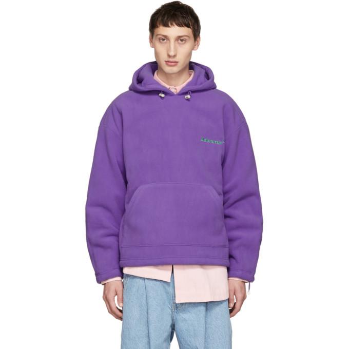 Photo: ADER error Purple Warm Hoodie