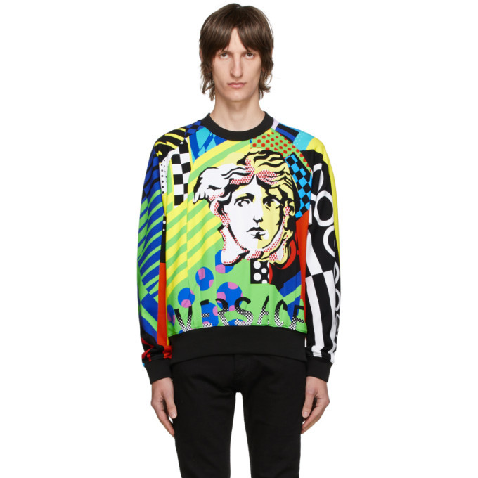 Photo: Versace Multicolor Collage Sweatshirt