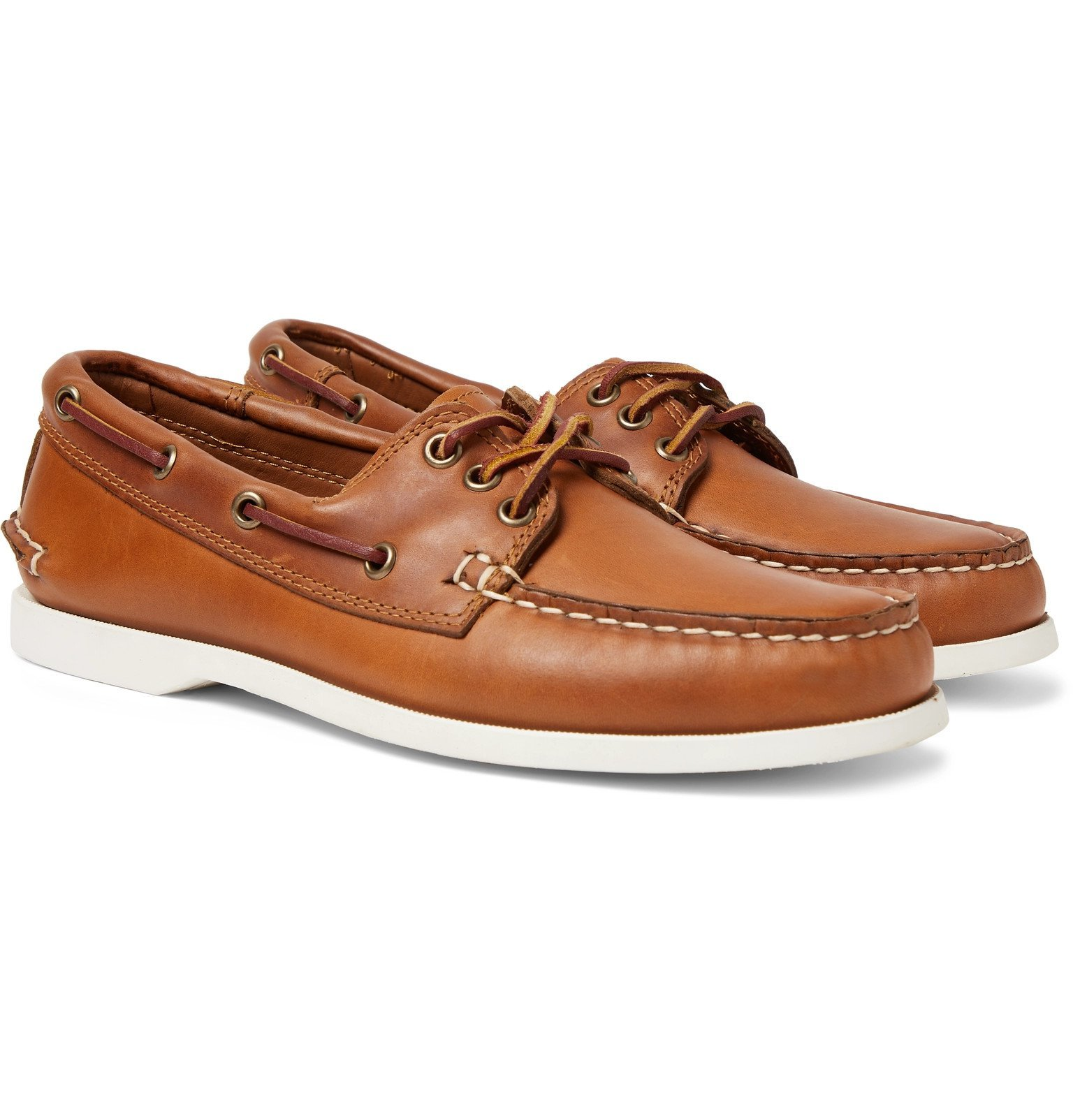 Photo: Quoddy - Downeast Leather Boat Shoes - Brown