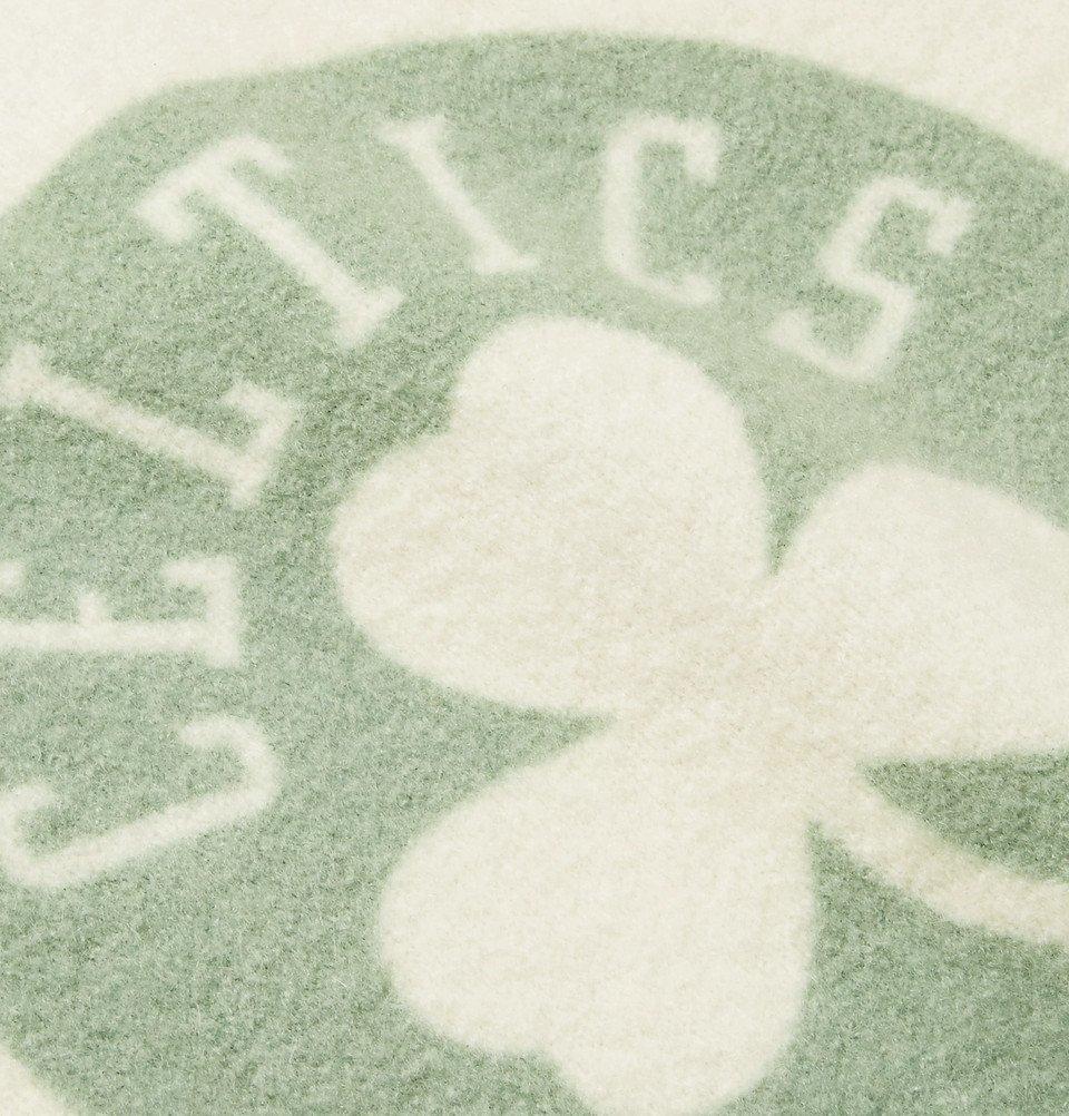 The Elder Statesman - NBA Boston Celtics Printed Brushed-Cashmere-Blend Sweatshirt - Green