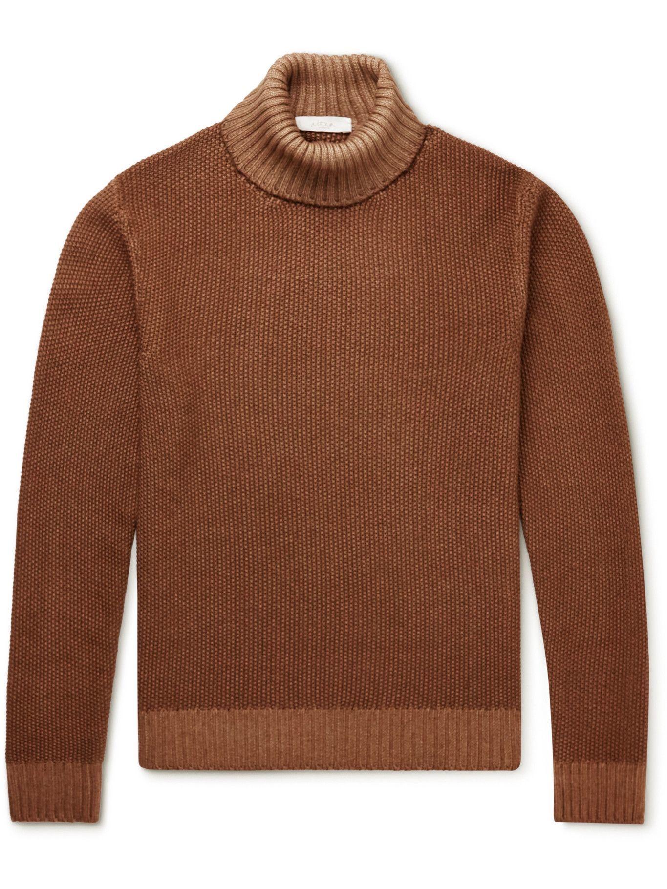 Photo: Altea - Wool Rollneck Sweater - Brown