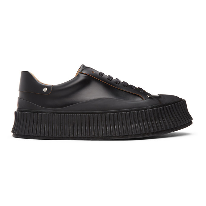 Photo: Jil Sander Black Vulcanized Sneakers