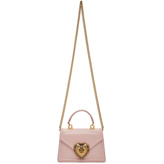 Photo: Dolce and Gabbana Pink Small Devotion Bag