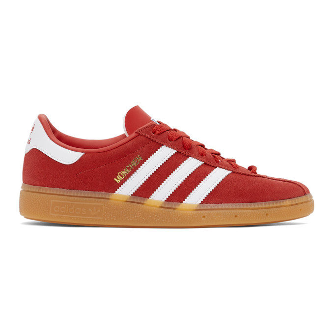 Photo: adidas Originals Red Munchen Sneakers