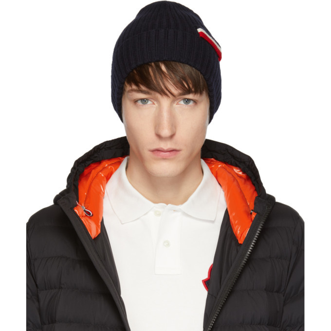 Photo: Moncler Navy Tricot Beanie
