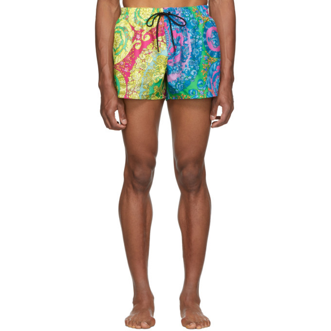 Photo: Versace Underwear Mutlicolor Barocco Swim Shorts