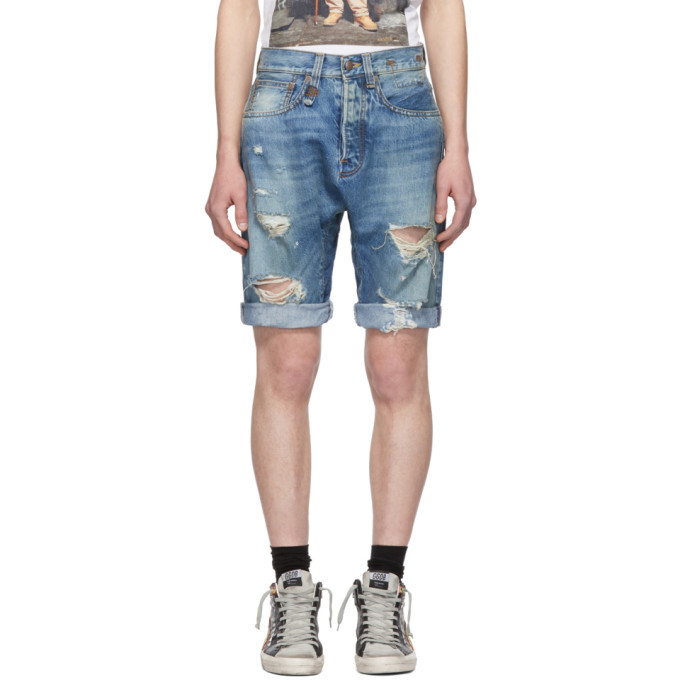 Photo: R13 Blue Denim Ian Shorts