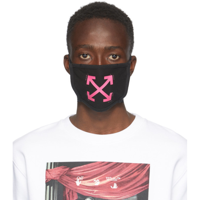 Photo: Off-White Black and Pink Arrows Mask