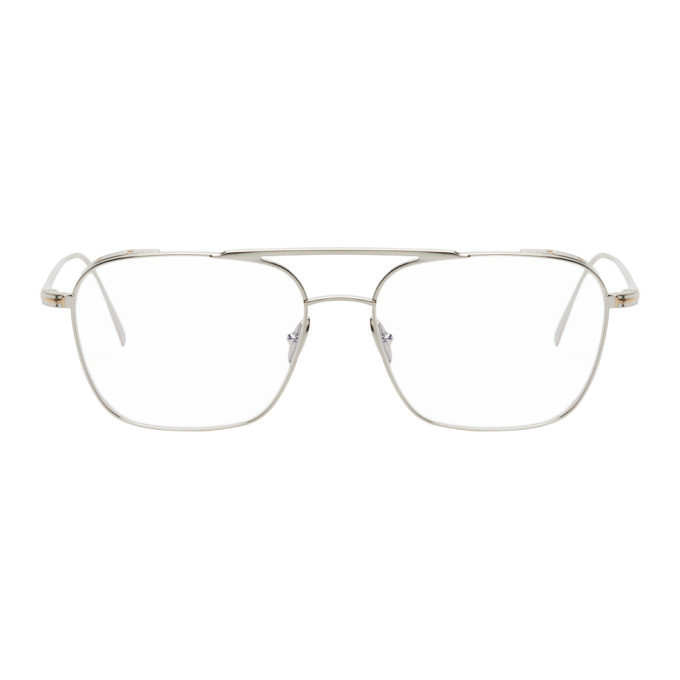 Photo: Tom Ford Silver Blue Block Soft Square Glasses