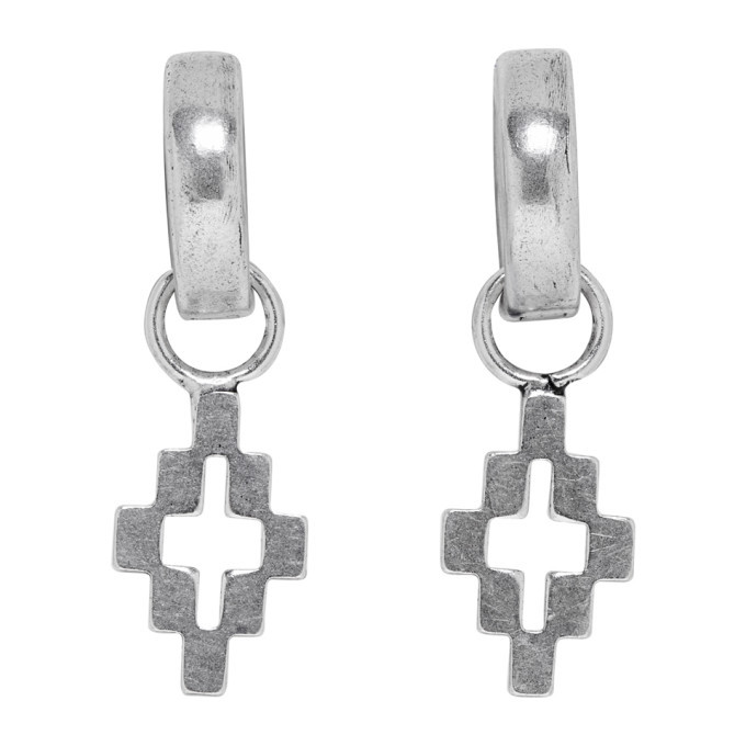 Photo: Marcelo Burlon County of Milan Silver Cross Pendant Hoop Earrings