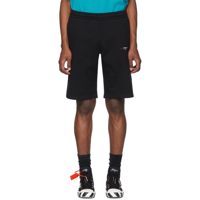Photo: Off-White Black Logo Sweat Shorts