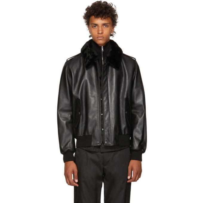 Photo: Prada Black Leather Fur Jacket