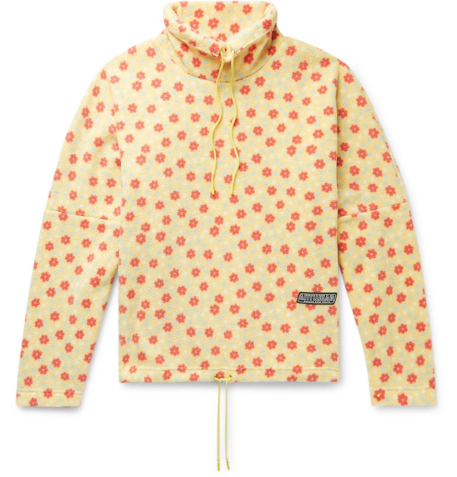 Martine Rose - Bongo Batwing Oversized Floral-Print Fleece Sweashirt - Yellow