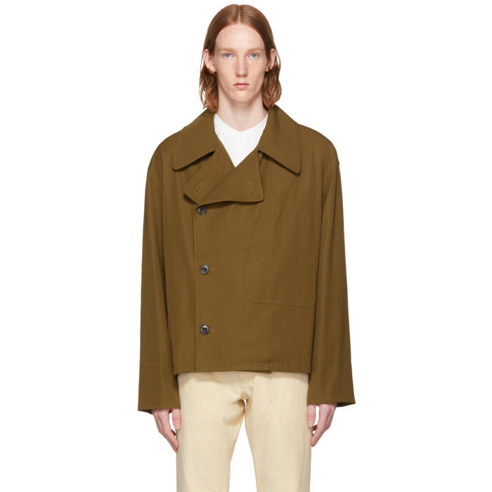 Lemaire Tan Double-Breasted Jacket