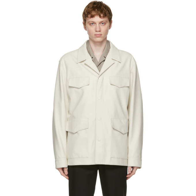 Photo: System Off-White Faux-Leather Jacket