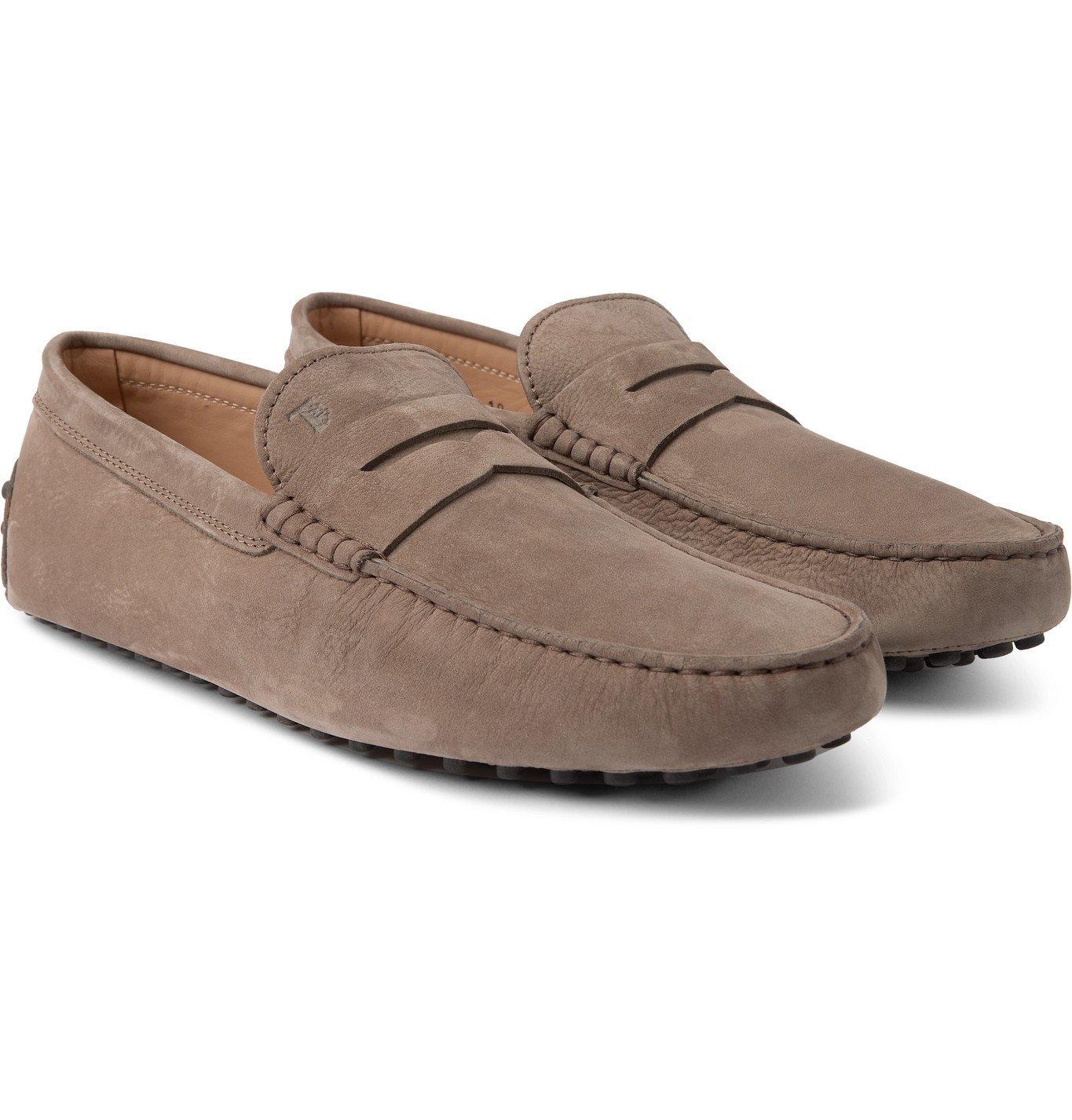 Photo: TOD'S - Gommino Nubuck Driving Shoes - Gray