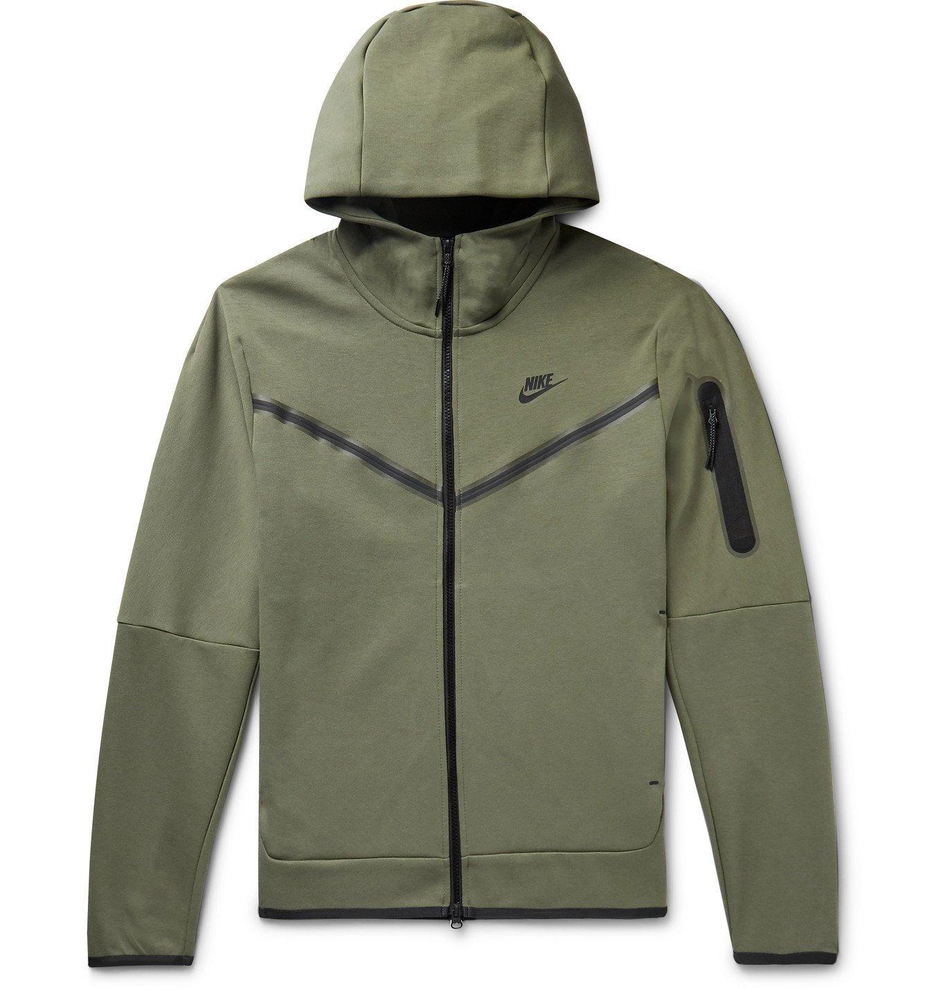 Photo: Nike - Sportswear Tech Fleece Zip-Up Hoodie - Green