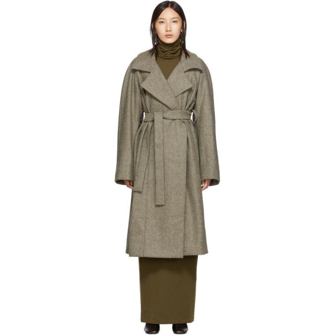Photo: Lemaire Beige Asymmetric Coat